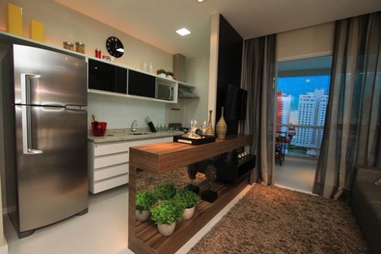 Cozinha americana a integra o dos c modos - Armarios para sala de estar ...