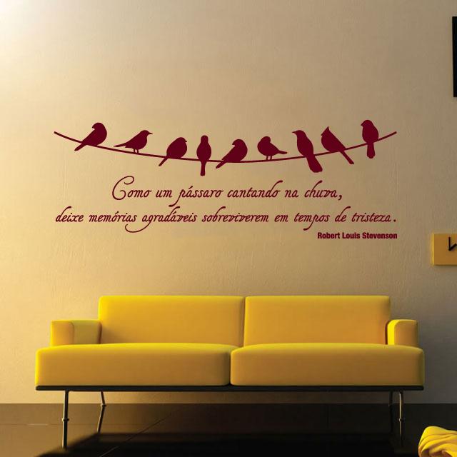 Papel De Parede Para Quarto Frases ~ Frases na parede da sua casa  Arte e Design