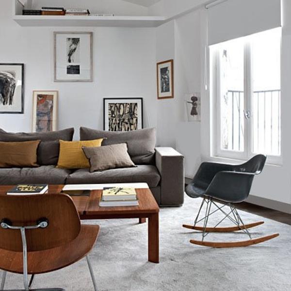 Cadeira de balanço na decoração