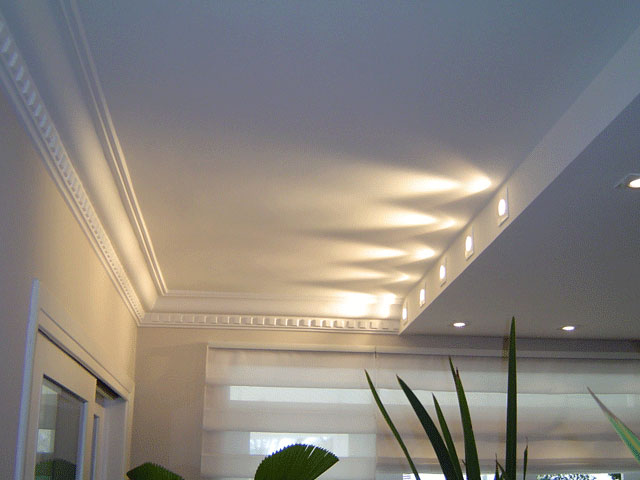 decoracao teto banheiro:Gesso fica perfeito na decoração da sua casa
