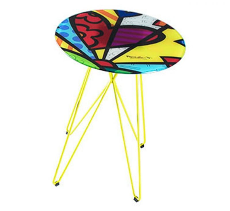 Mesa lateral alta butterfly new-day Romero Britto da Artezanal