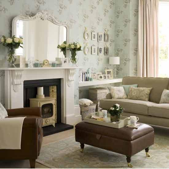 Sala decorada no estilo Vintage