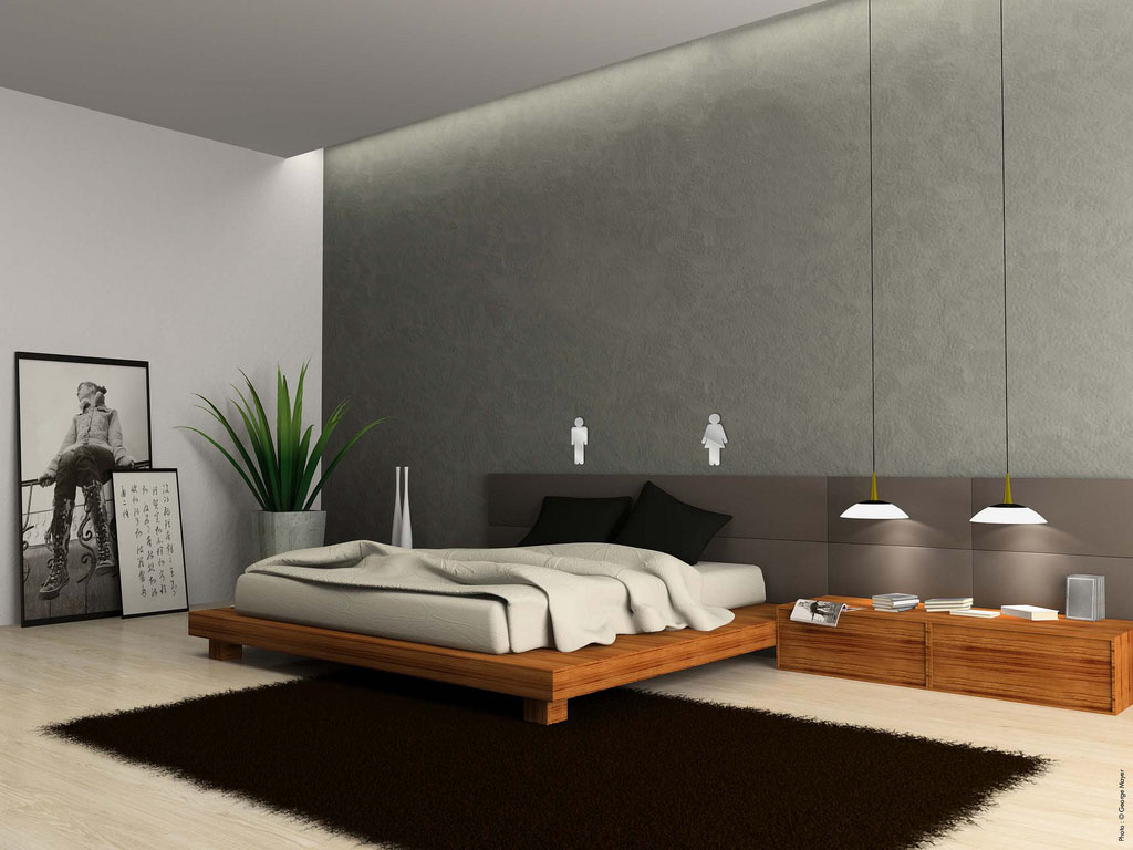 Quarto de casal e as ideias para voc se inspirar for Bed minimalist design