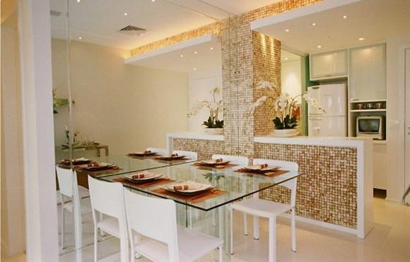 Pastilhas de vidro na cozinha
