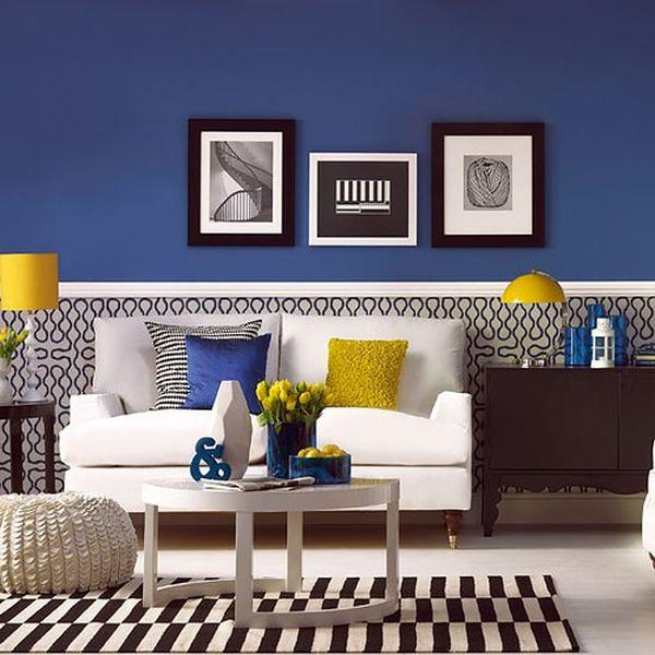 Sala De Estar Azul E Amarela