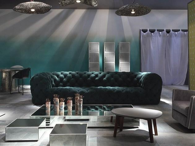 Sofa de couro Moon
