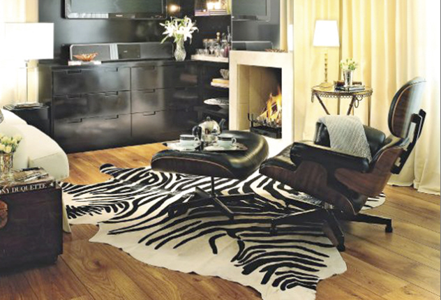 Sala Decorada De Zebra ~  sobre Salas De Estampado De Animal no Pinterest # decoracao sala zebra