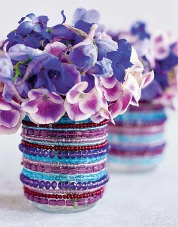 Arranjos florais - Roxo na decoração