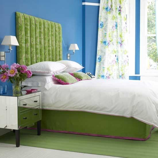 Cores vibrantes para o quarto