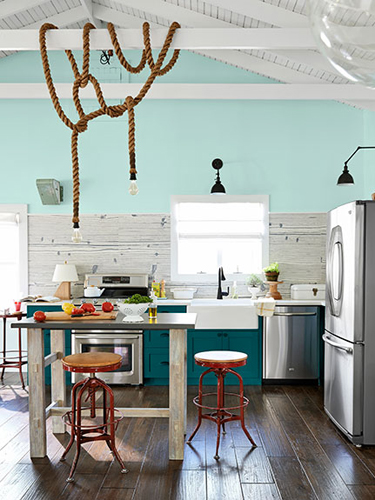 What Color Dinette Matches All Whute Kitchen Grey Countertops