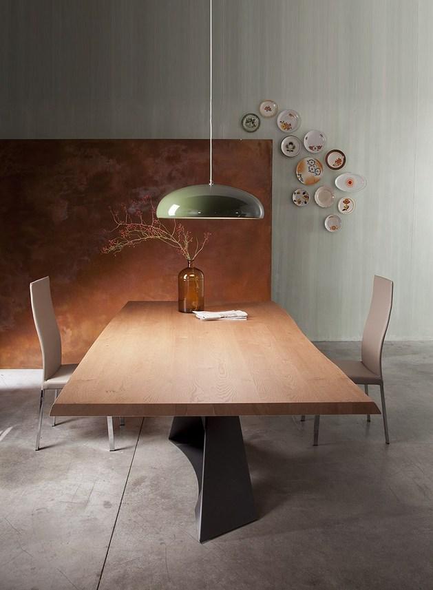 Mesa de jantar de carvalho contempor nea for Table a diner bois et metal