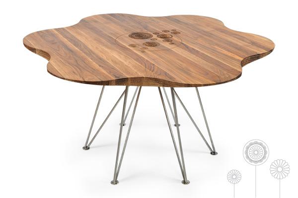 Movel de madeira mesa margarida