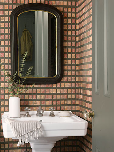 Banheiro Decorado Com Papel De Parede Foto 150×150 Pictures to pin on Pinterest # Banheiro Decorado Com Papel De Parede