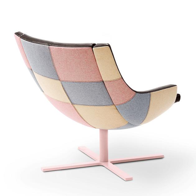 Poltrona Patchwork e seu design elegante