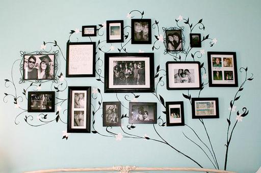 Porta-retratos na decoração