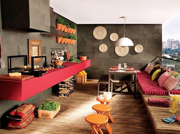 Um espaço gourmet mais colorido