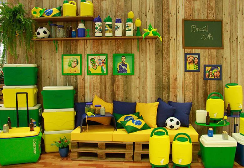 Verde e amarelo toma conata da decoração