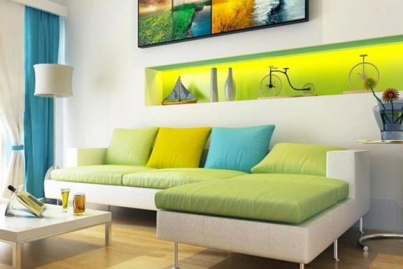 Verde e ameralo na decoração