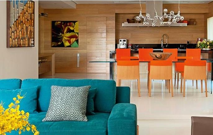 Laranja Na Sala De Estar ~ laranja invade a decoração da casa toda