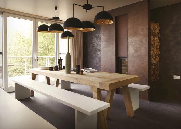Combinando estilos mesas rusticas e cadeiras modernas for O significado de dining room