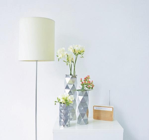 Os vasos da coleção combinam muito bem a um ambiente minimalista