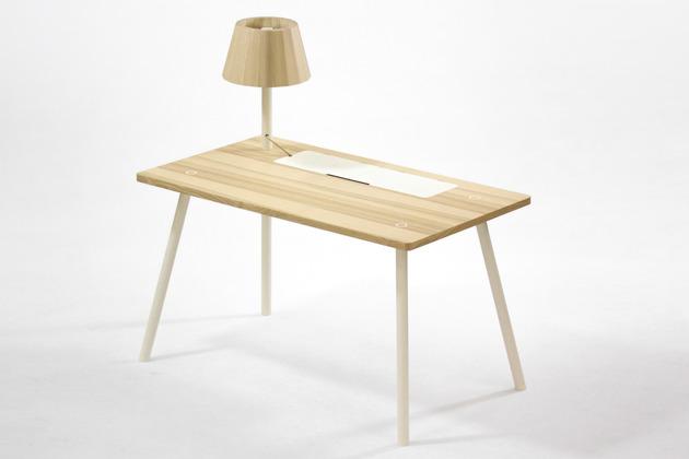 Uma mesa contemporanez perfeita para o trabalho