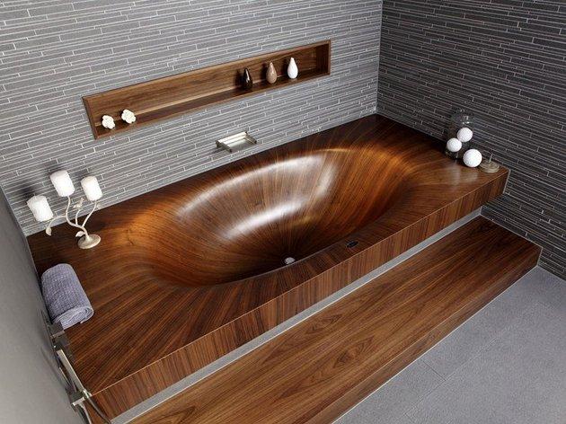 A banheira Laguna é linda em todos os detalhes