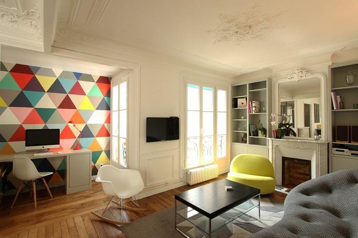 Apartamento colorido e aconchegante direto de Paris