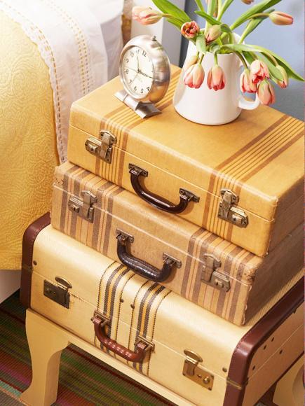 As malas são uma super tendência para a decoração
