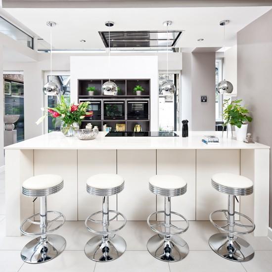 White Kitchen Bench