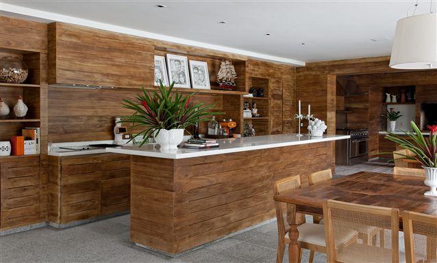 Cozinha gourmet rustica também é uma ótima ideia