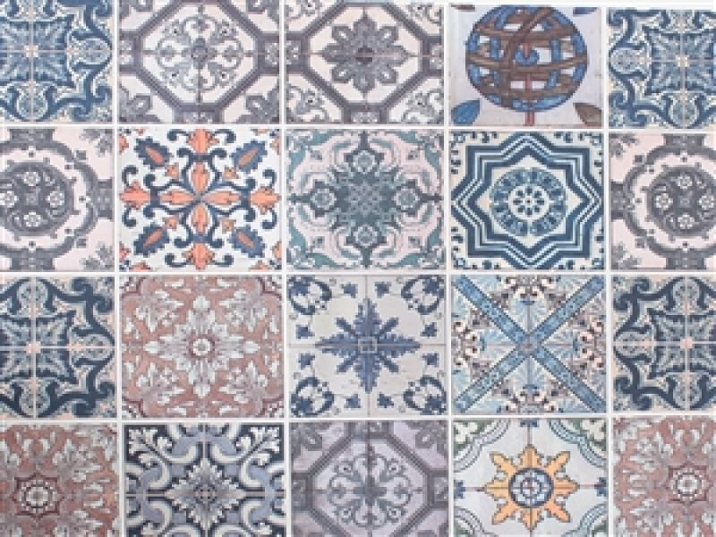 Estampa digital azulejos portugueses