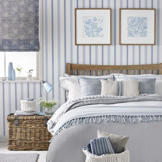 O azul é perfeito para dar a um quarto um toque suave
