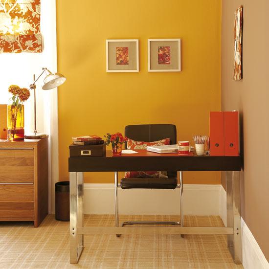 Parede colorida no Home Office
