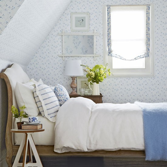 Um quarto floral e delicado