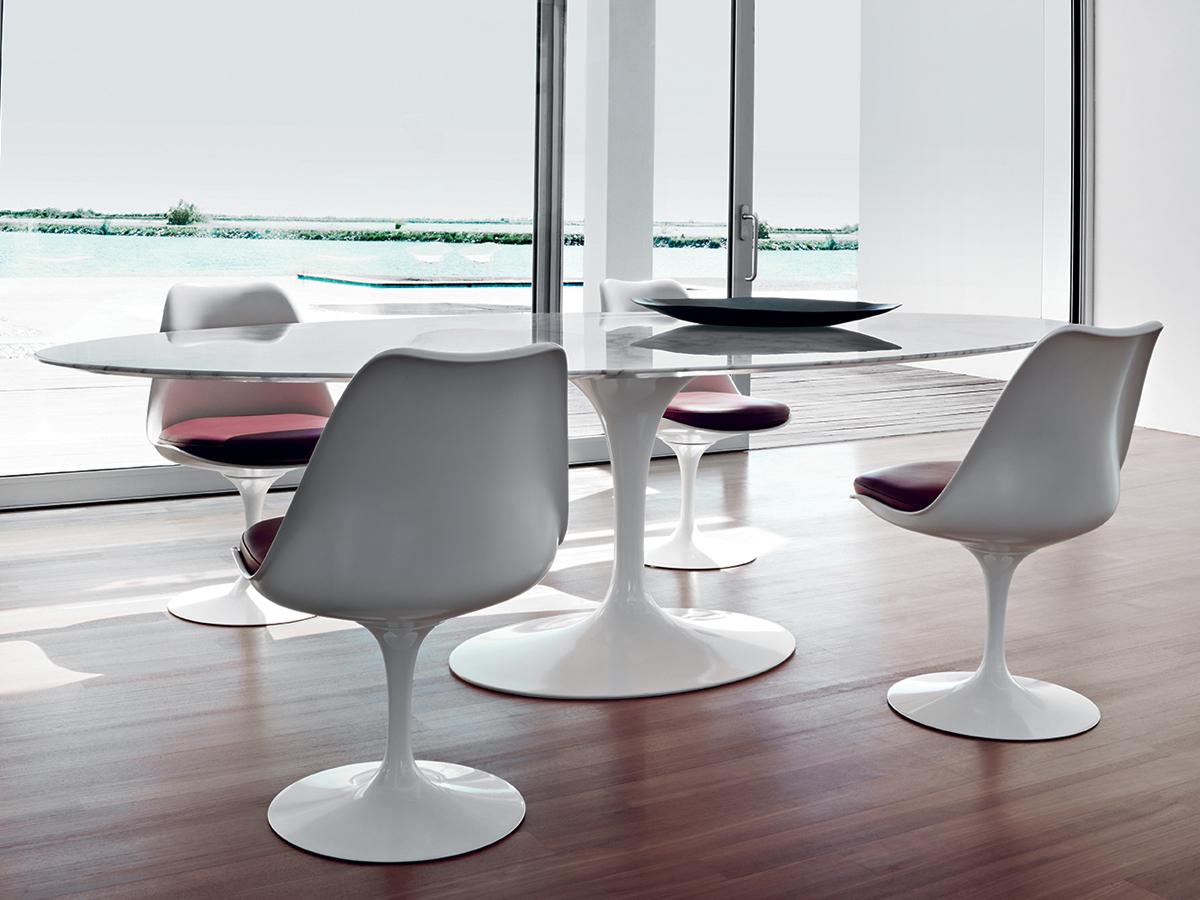 As cadeiras são perfeitas junto com as mesas Saarinen