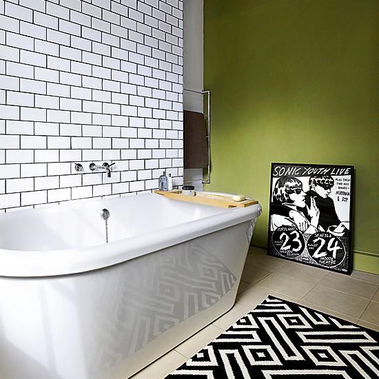 Banheiro com toque moderno