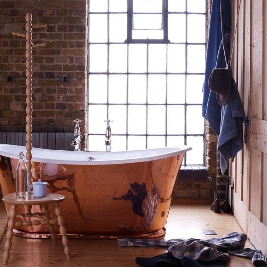 Banheiro rustico e moderno