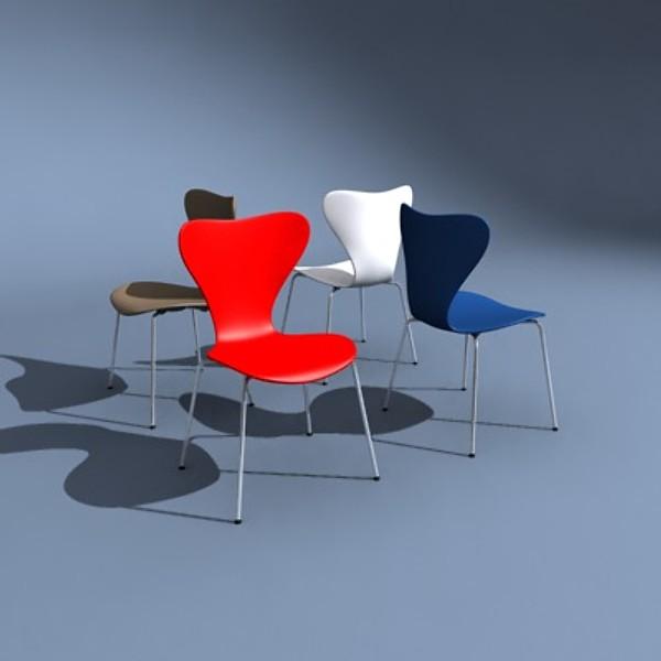 Cadeira Jacobsen também conhecida como modelo 3107
