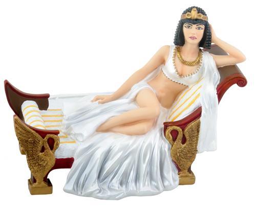 Cleópatra em sua chaise