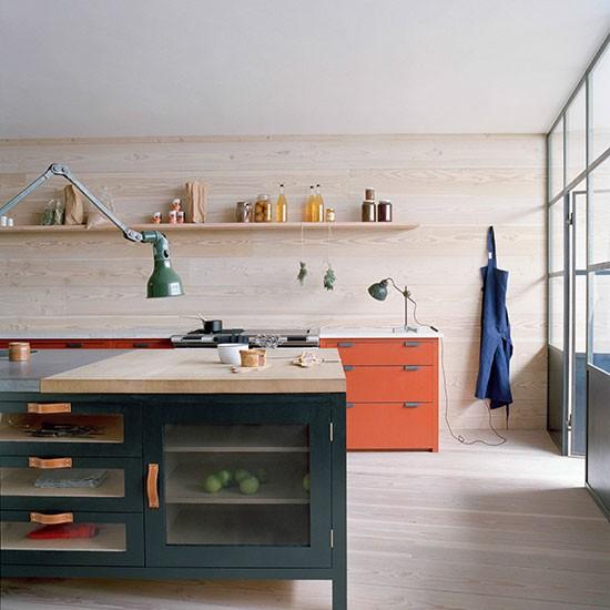 Cozinha colorida no melhor estilo rustico