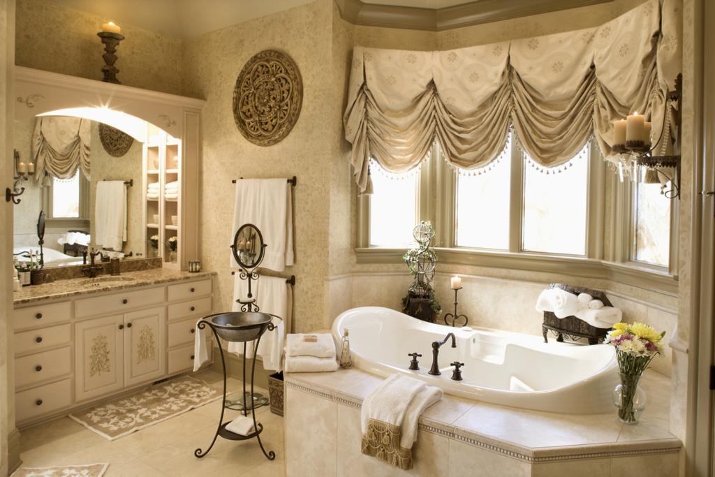 Estilo romantico no banheiro