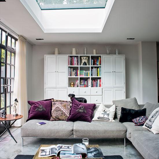 Living room moderno e atraente