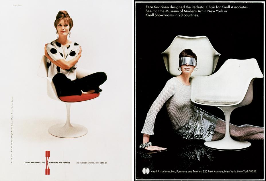 O cartaz original de criação da cadeira Saarinen