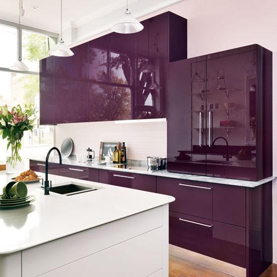 Roxo é muito lindo para a cozinha