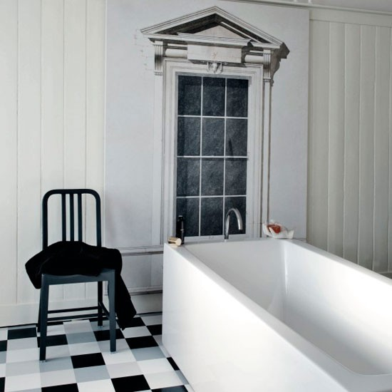 Banheiros modernos s o tudo de bom - Photos of black and white bathrooms ...