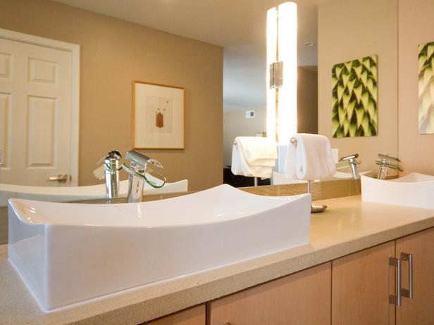 Banheiro moderno e elegante