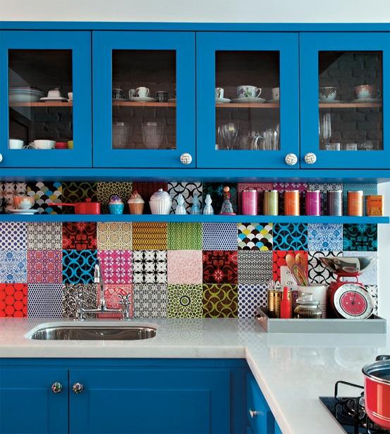 Cozinha criativa com patchwork