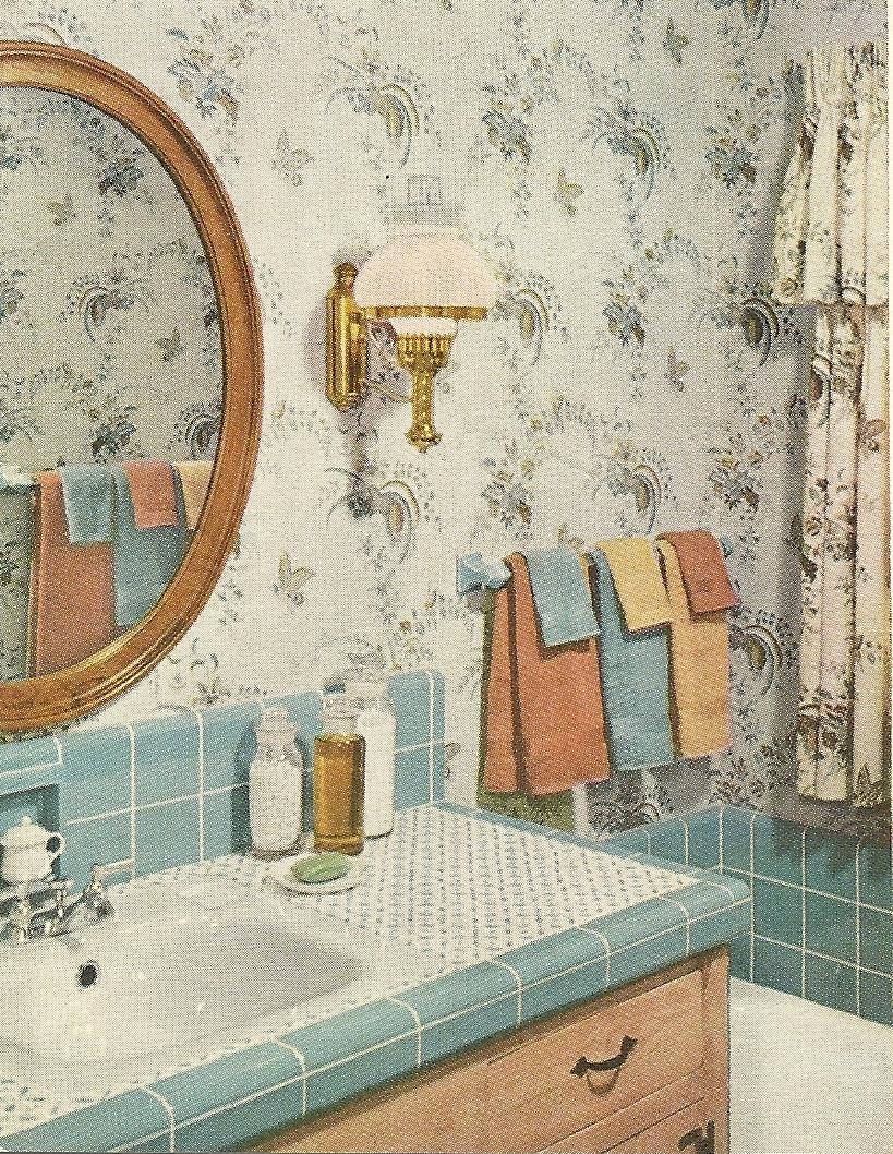 Lindo esse banheiro vintage