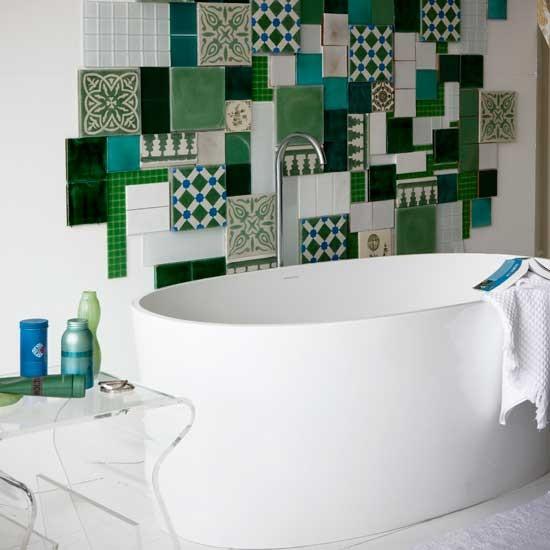 Mosaicos no banheiro